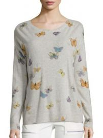 Joie - Eloisa Butterfly-Print Cashmere Sweater at Saks Off 5th