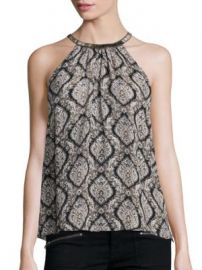 Joie - Francis Embellished Silk Halter Top at Saks Off 5th