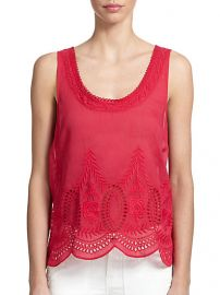 Joie - Lille Embroidered Cotton Tank at Saks Fifth Avenue