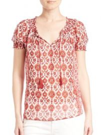 Joie - Masha Silk Blouse at Saks Fifth Avenue