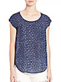 Joie - Rancher Sea Texture Top at Saks Fifth Avenue