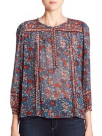 Joie - Rosalind Silk Floral-Print Blouse at Saks Off 5th