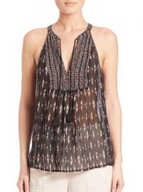 Joie - Shara D Ikat-Print Silk Halter Top at Saks Off 5th
