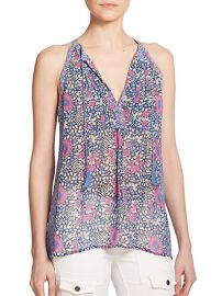 Joie - Shara Printed Silk Top at Saks Fifth Avenue
