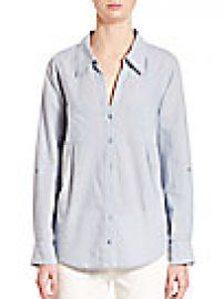 Joie  Cartel Button-Front Chambray Shirt at Saks Fifth Avenue