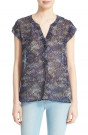 Joie  Farhana  Floral Print Silk Top at Nordstrom