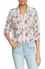 Joie  Katrine  Paisley Cotton   Silk Blouse at Nordstrom