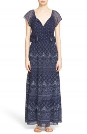 Joie  Manalia  Print Silk Blouson Maxi Dress at Nordstrom