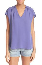 Joie  Suela  Silk Top in purple at Nordstrom