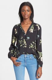 Joie  Yvetta  Floral Print Silk Top at Nordstrom