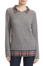 Joie  Zaan F  Layered Look Cashmere Sweater at Nordstrom