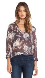 Joie Aceline Blouse in Charcoal  REVOLVE at Revolve