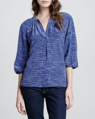 Joie Addie B Printed Blouse at Neiman Marcus