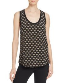 Joie Alicia Camel Print Silk Top at Bloomingdales