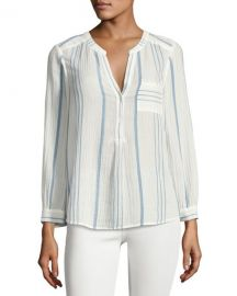 Joie Almae Striped Gauze Top White at Bergdorf Goodman