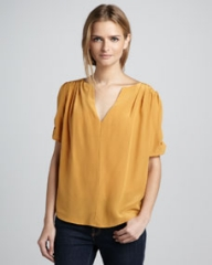 Joie Amone Silk Blouse at Neiman Marcus