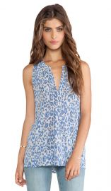 Joie Aruna Animal Printed Tank in Dark Navy  REVOLVE at Revolve