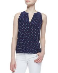 Joie Aruna Playing Cards Silk Printed Tank Top at Neiman Marcus