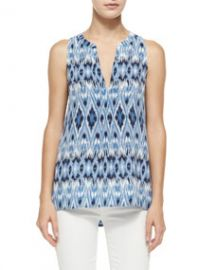Joie Aruna Printed Sleeveless Top at Neiman Marcus