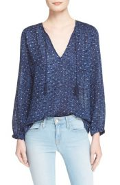 Joie Ayala Smocked Cotton Peasant Top at Nordstrom