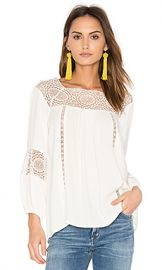 Joie Bellange Blouse in Porcelain from Revolve com at Revolve