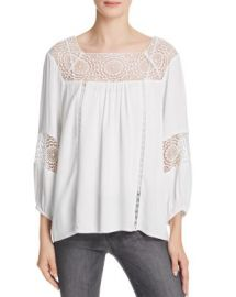 Joie Bellange Lace-Inset Top at Bloomingdales