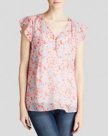 Joie Blouse - Macy B Whimsical Watercolor Floral Silk at Bloomingdales