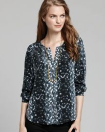 Joie Blouse - Purine Snow Leopard Silk at Bloomingdales