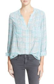 Joie Bonilla Plaid Silk Blouse at Nordstrom
