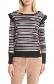 Joie Cais C Stripe Wool   Cashmere Sweater at Nordstrom