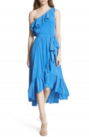 Joie Damica Ruffle One-Shoulder Silk Dress at Nordstrom