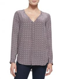 Joie Daryn Printed Long-Sleeve Blouse at Neiman Marcus