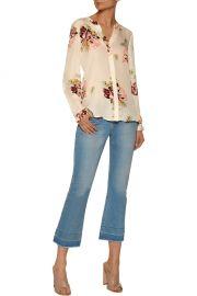 Joie Devitri floral-print silk crepe de chine blouse at The Outnet
