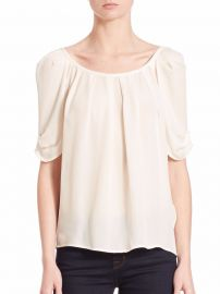 Joie Eleanor Silk Blouse at Saks Fifth Avenue