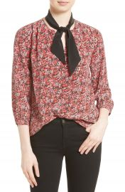 Joie Elick Tie Neck Silk Blouse at Nordstrom