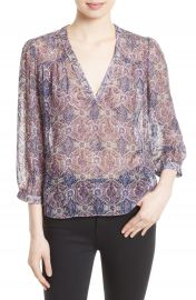 Joie Frazier B Print Silk Blend Top at Nordstrom