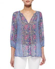 Joie Gloria Long-Sleeve Print Blouse at Neiman Marcus