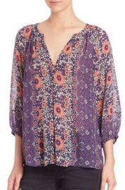 Joie Gloria Printed Silk Top at Saks Fifth Avenue