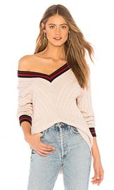 Joie Golibe Sweater in Caviar  amp  Parchment  amp  Cambridge Red from Revolve com at Revolve