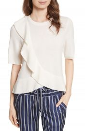 Joie Jayni Asymmetrical Ruffle Cashmere Sweater at Nordstrom
