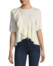 Joie Jayni Ruffled Cashmere Sweater  at Neiman Marcus