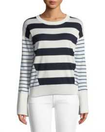 Joie Kaylara Striped Long-Sleeve Sweater at Neiman Marcus