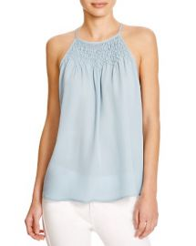 Joie Kealy Embroidered Silk Top at Bloomingdales