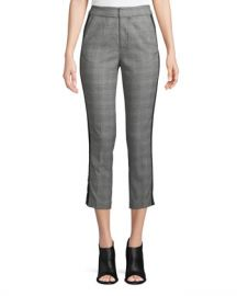 Joie Kenadia Side-Stripe Cropped Straight-Leg Pants at Neiman Marcus