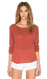 Joie Margeaux Sweater in Burnt Terracotta at Revolve
