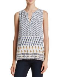 Joie Mayra Printed Silk Sleeveless Top at Bloomingdales