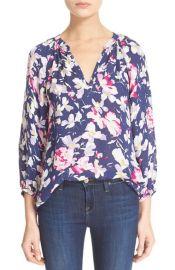 Joie McKenna Floral Print Silk Blouse at Nordstrom