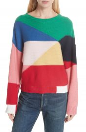 Joie Megu Colorblock Wool  amp  Cashmere Sweater at Nordstrom
