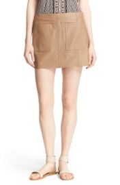 Joie Nephrite Leather Skirt at Nordstrom