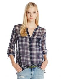 Joie Nura Plaid Blouse at Amazon